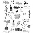CMS-LG - 386 - Stampers Anonymous Tim Holtz Cling Mounted Stamp Set - Seasonal Scribbles